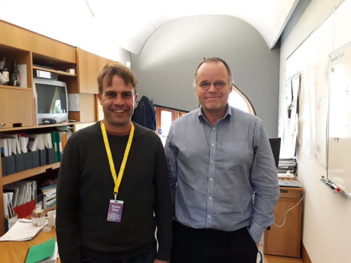 Gavin Crichton meets Andy Wightman at the Scottish Parliament for the Shadow Scheme funded by Creative Scotland and co-ordinated by Leith Open Space