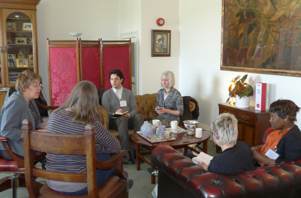Marion Donaldson with other shadows in Cllr Lesley Hinds's office in Edinburgh City Chambers