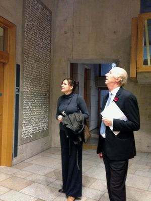 Ruth Bittern meets Malcolm Chisholm at the Scottish Parliament