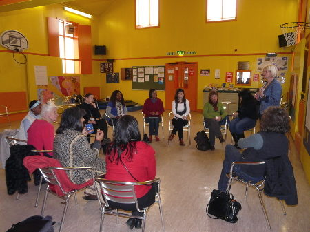 Open Space discussion circle at Who Cares for the carers.