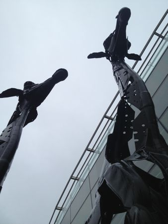Giraffe statues outside the Omni Centre