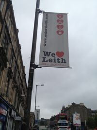 Love Leith street sign