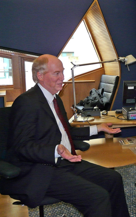 Malcolm Chisholm in his office