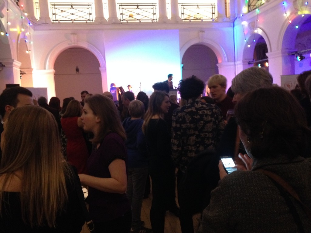 party in full swing in the great hall of Edinburgh College of Art